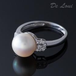 Anillo Oro Blanco - 1 Perla...
